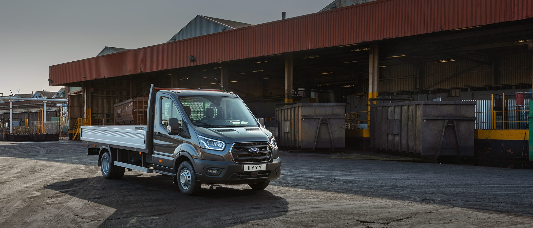 New Ford Transit Chassis Cab front view